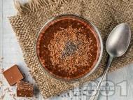 Протеинов Чия пудинг с кафе, кокосово и бадемово мляко